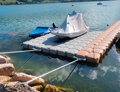 Cubi System – Ponton d'échouage – Sauvetage Lac de Joux
