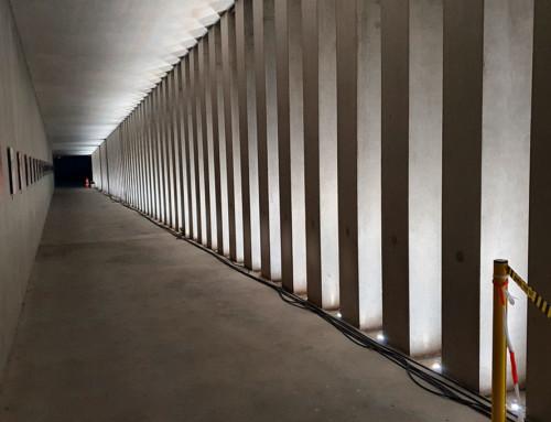 Spots submersibles – Rénovation tunnel d'accès